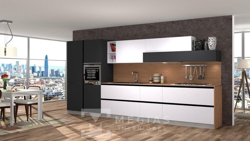 Diseño de Cocinas a Medida en 3D - 【 Megías Interiores 】